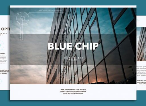 Presentation Templates: Blue Chip 02 Powerpoint and Google Slides Presentation Template #04586