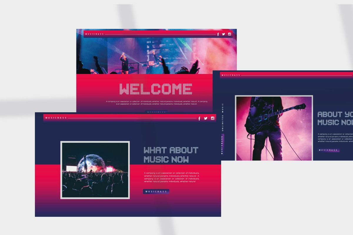 MUSICBASS- PowerPoint Template, Slide 3, 04590, Presentation Templates — PoweredTemplate.com