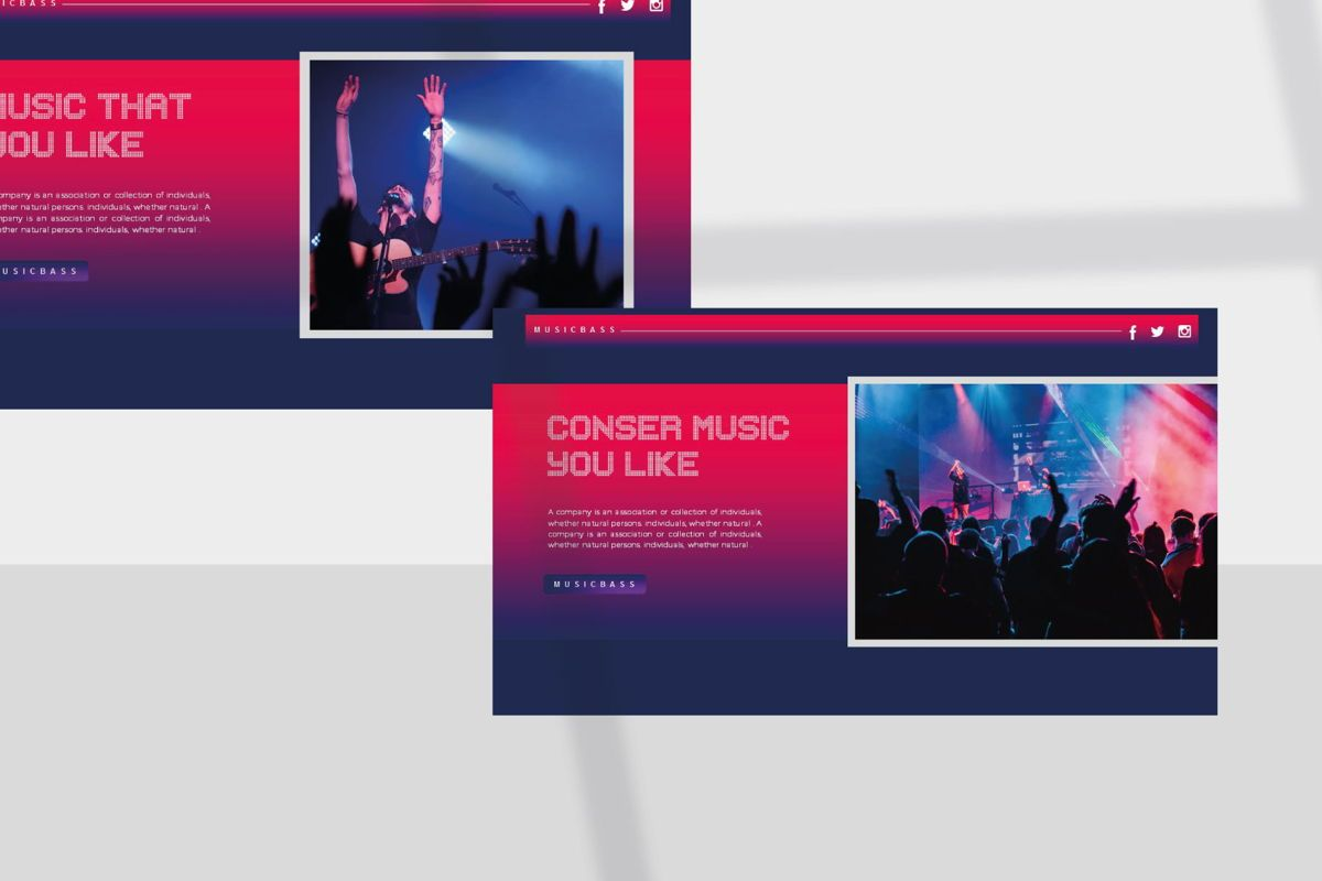MUSICBASS- PowerPoint Template, Slide 4, 04590, Presentation Templates — PoweredTemplate.com