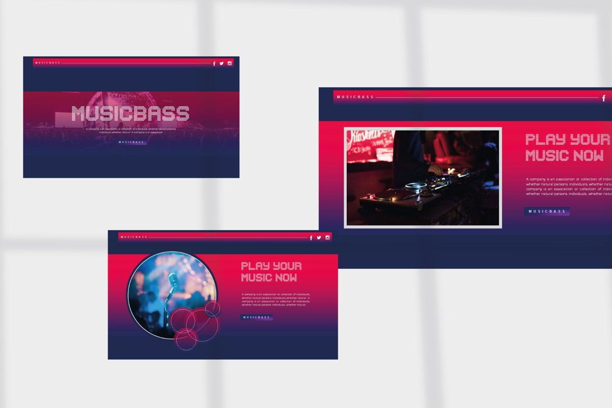 MUSICBASS- PowerPoint Template, Slide 5, 04590, Presentation Templates — PoweredTemplate.com
