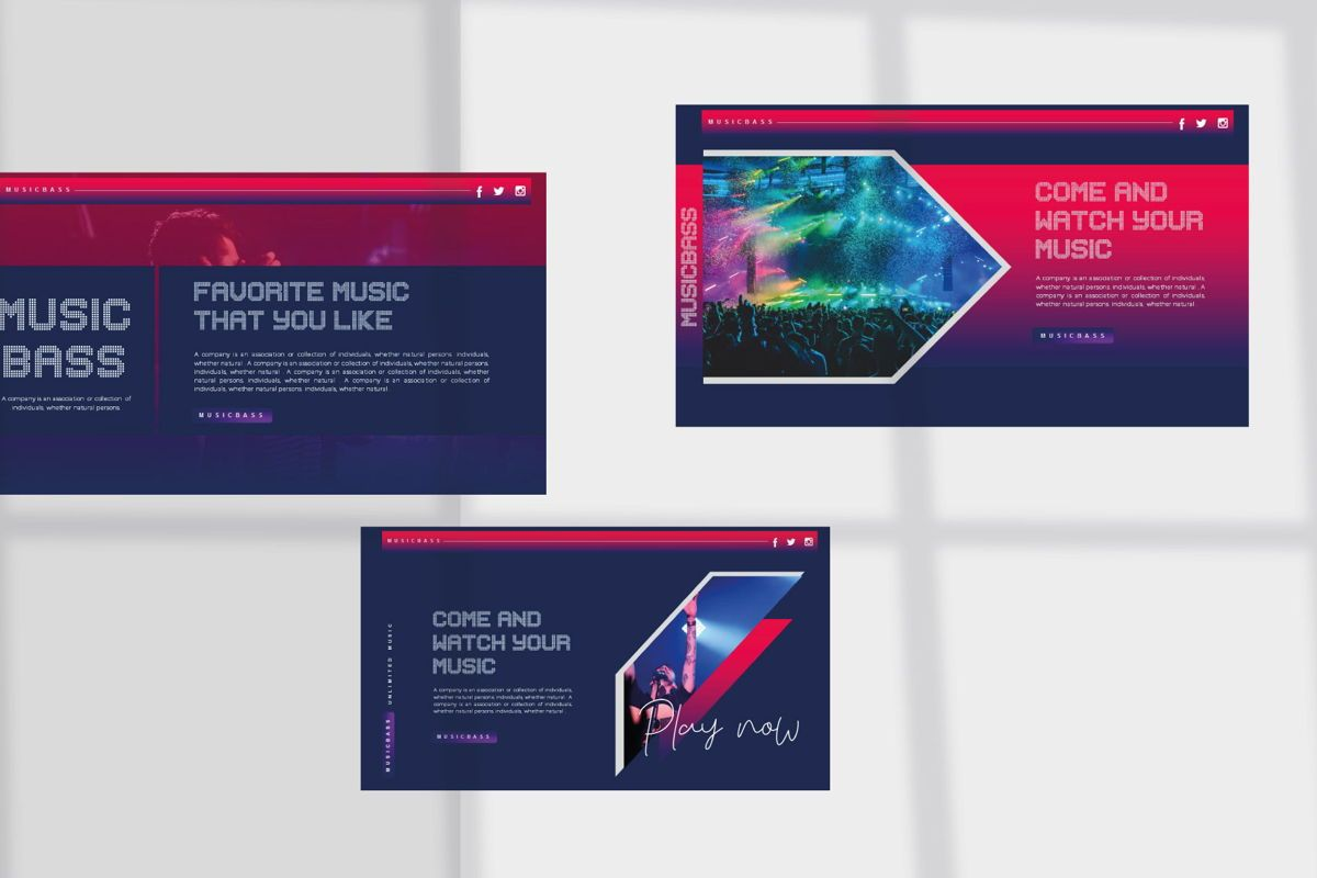 MUSICBASS- PowerPoint Template, Slide 6, 04590, Presentation Templates — PoweredTemplate.com