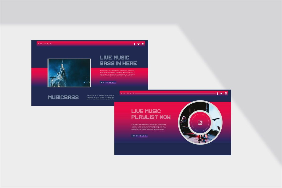 MUSICBASS- PowerPoint Template, Slide 8, 04590, Presentation Templates — PoweredTemplate.com