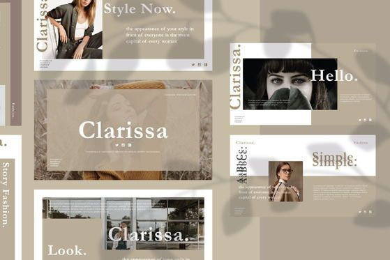 Presentation Templates: CLARISSA - PowerPoint Template #04591