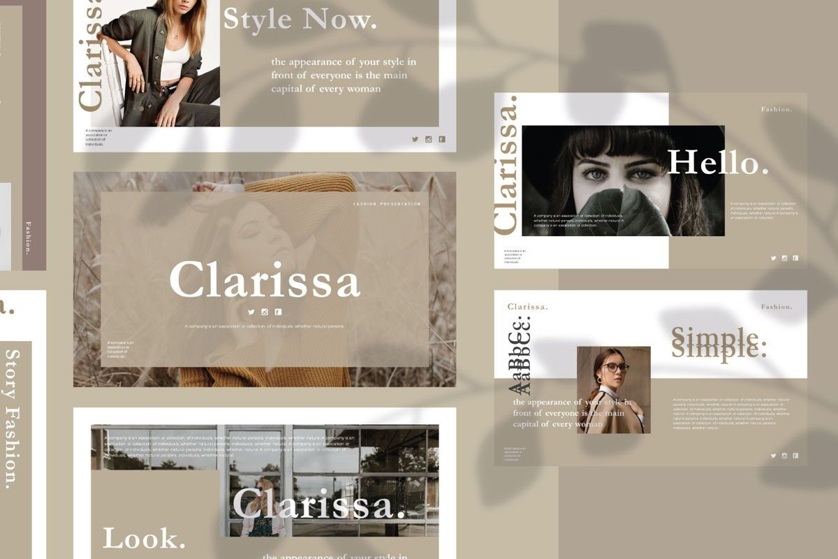 CLARISSA - PowerPoint Template, 04591, Presentation Templates — PoweredTemplate.com