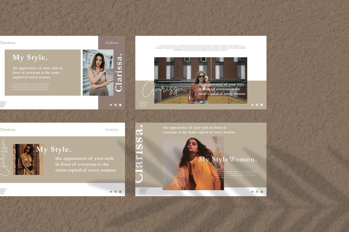 CLARISSA - PowerPoint Template, Slide 2, 04591, Presentation Templates — PoweredTemplate.com