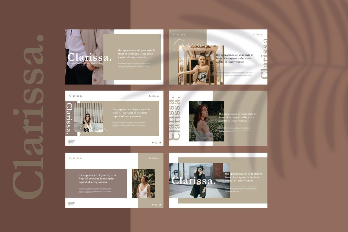 CLARISSA - PowerPoint Template, Slide 5, 04591, Presentation Templates — PoweredTemplate.com