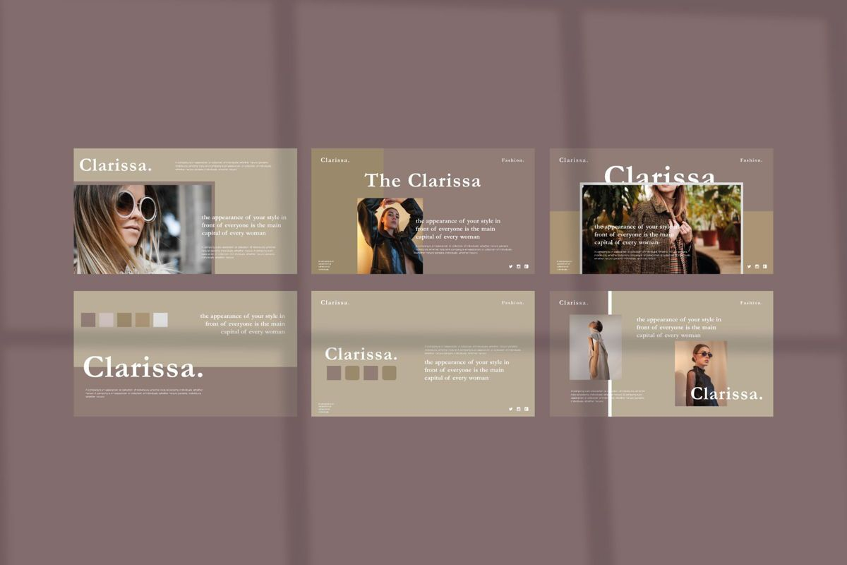 CLARISSA - PowerPoint Template, Slide 6, 04591, Presentation Templates — PoweredTemplate.com