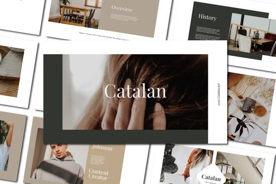 Presentation Templates: CATALAN - PowerPoint Template #04592