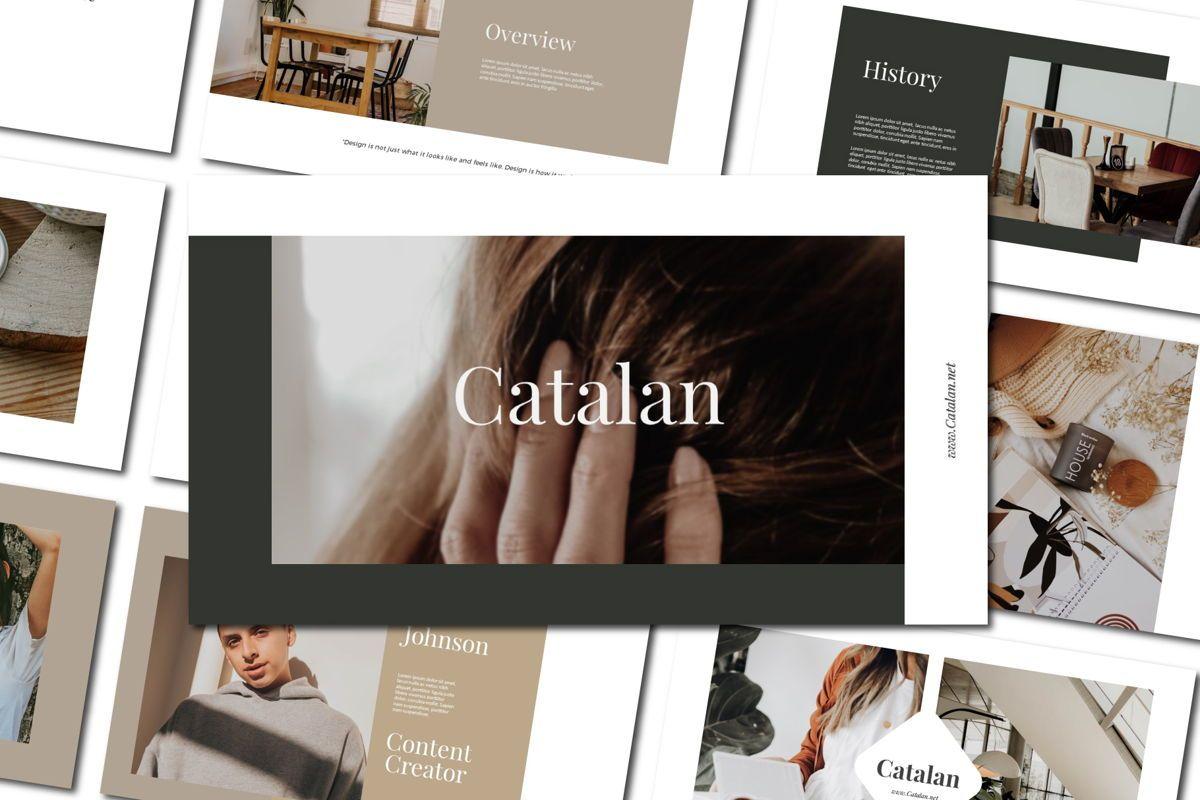 CATALAN - PowerPoint Template, 04592, Presentation Templates — PoweredTemplate.com