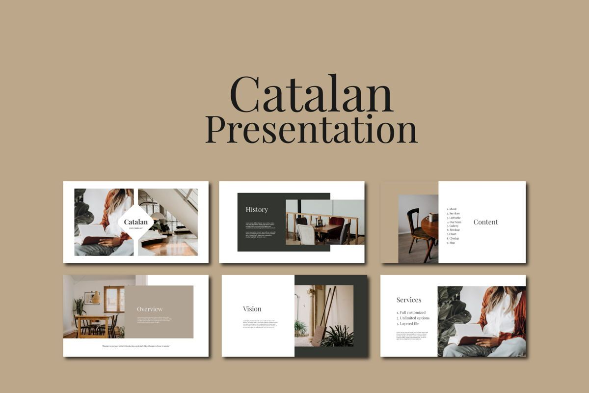 CATALAN - PowerPoint Template, Slide 3, 04592, Presentation Templates — PoweredTemplate.com