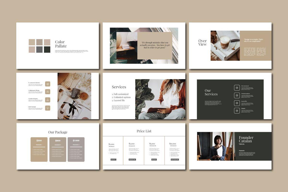 CATALAN - PowerPoint Template, Slide 5, 04592, Presentation Templates — PoweredTemplate.com