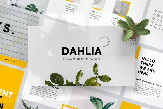 Presentation Templates: DAHLIA- PowerPoint Template #04594