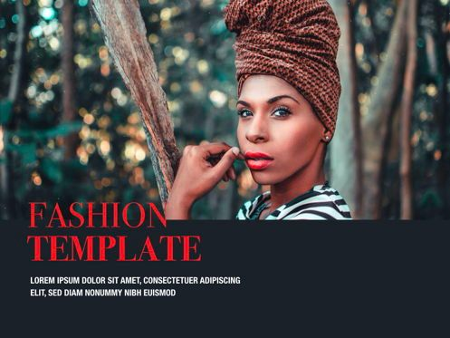 Presentation Templates: Fashion Tale Powerpoint and Google Slides Presentation Template #04608