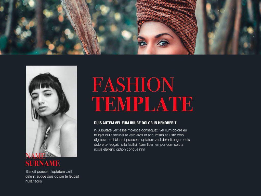 Fashion Tale Powerpoint and Google Slides Presentation Template, Folie 5, 04608, Präsentationsvorlagen — PoweredTemplate.com