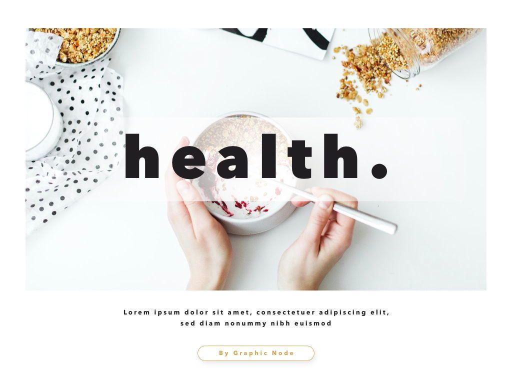 Healthy Powerpoint and Google Slides Presentation Template, 04610, Präsentationsvorlagen — PoweredTemplate.com