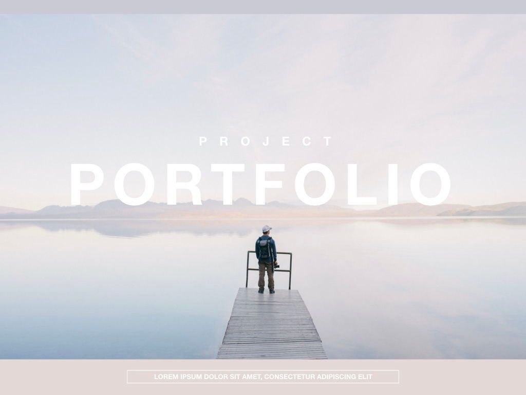 Pastel Portfolio Powerpoint and Google Slides Presentation Template, 04620, Presentation Templates — PoweredTemplate.com
