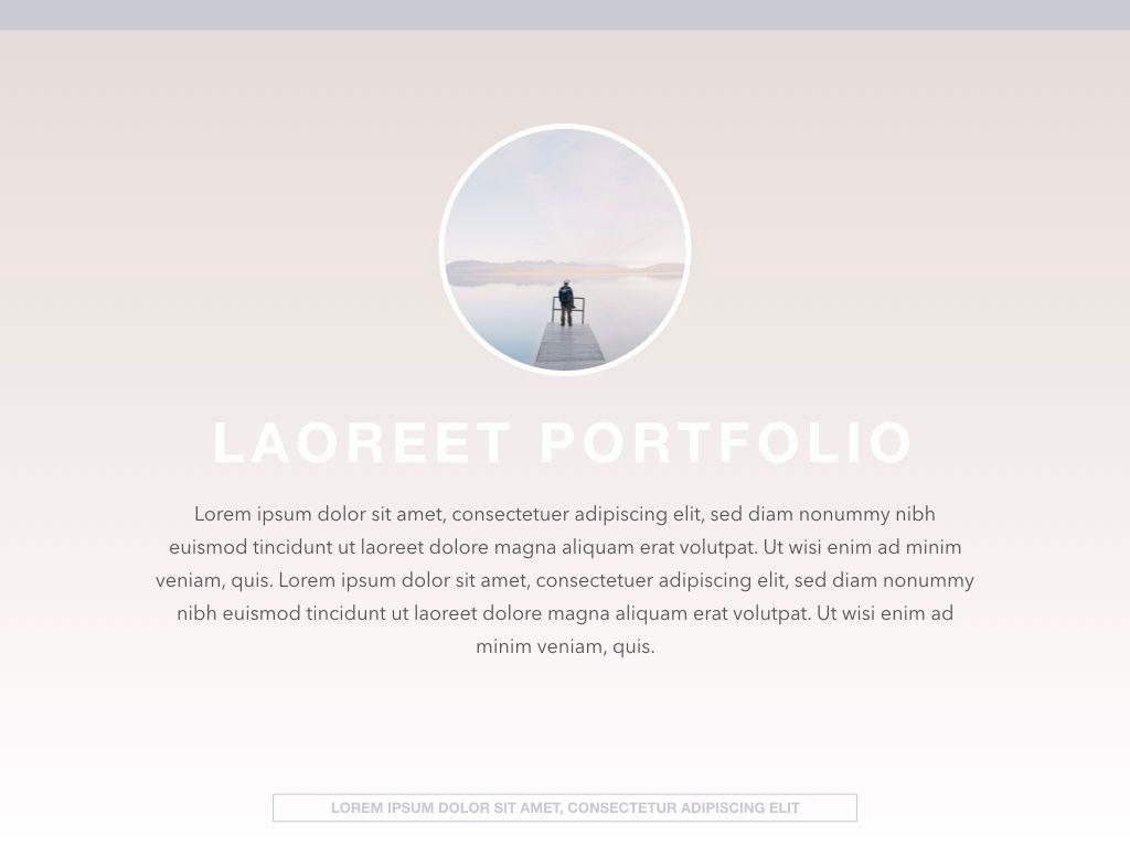 Pastel Portfolio Powerpoint and Google Slides Presentation Template, Slide 9, 04620, Presentation Templates — PoweredTemplate.com