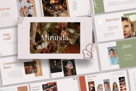 Presentation Templates: MIRANDA - PowerPoint Template #04623