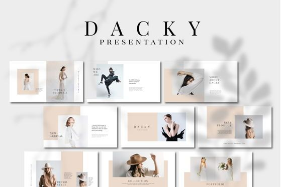 Presentation Templates: DACKY - PowerPoint Template #04628