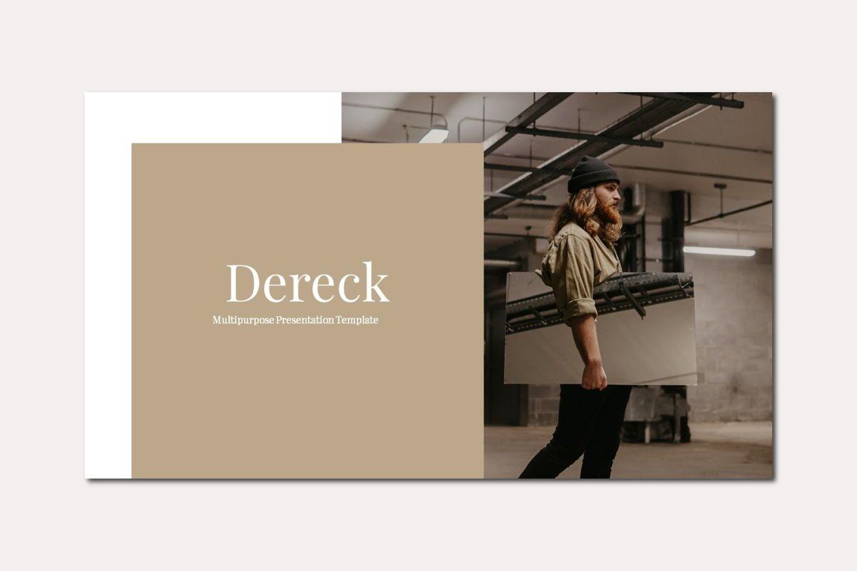 DERECK - Google Slides, Slide 3, 04654, Presentation Templates — PoweredTemplate.com