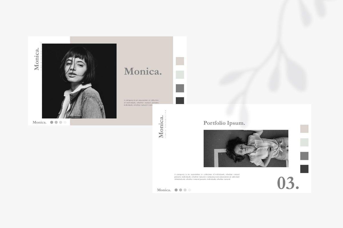 MONICA - Google Slides, Slide 8, 04655, Presentation Templates — PoweredTemplate.com