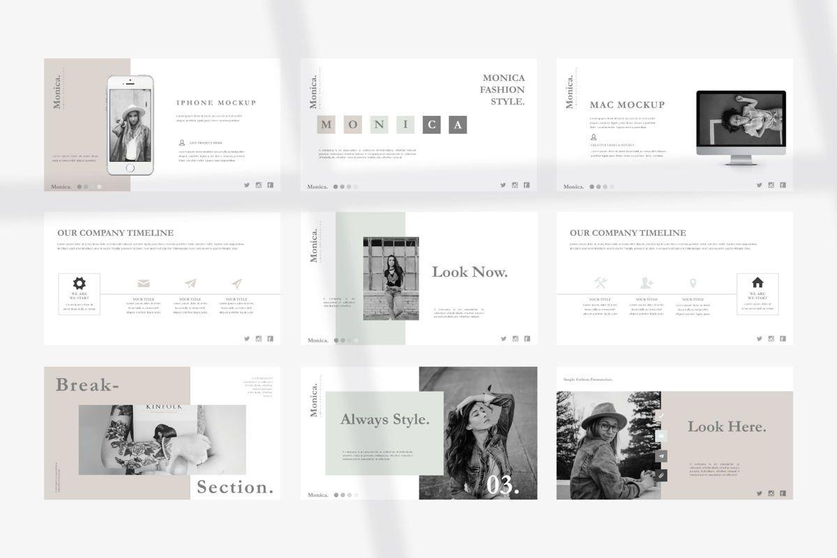 MONICA - Google Slides, Slide 9, 04655, Presentation Templates — PoweredTemplate.com