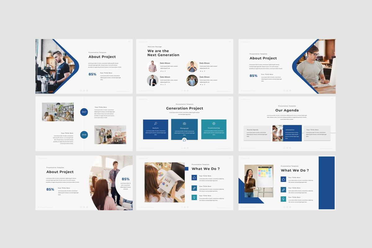 GENERATION - Google Slides, Slide 6, 04656, Presentation Templates — PoweredTemplate.com