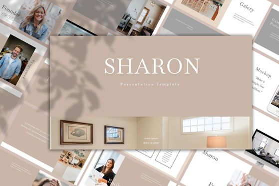 Presentation Templates: SHARON - PowerPoint Template #04672