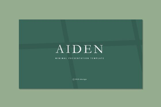 Presentation Templates: AIDEN - Keynote Template #04693