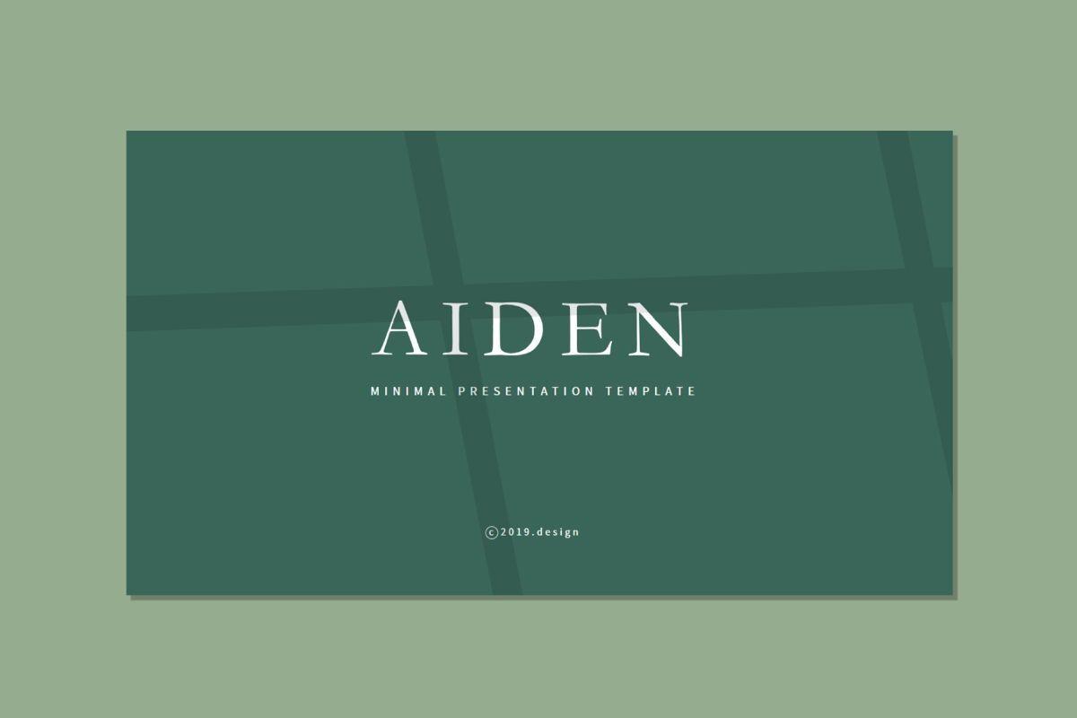 AIDEN - Keynote Template, 04693, Presentation Templates — PoweredTemplate.com