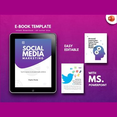 Infographics: Social Media Marketing eBook PowerPoint Template #04715