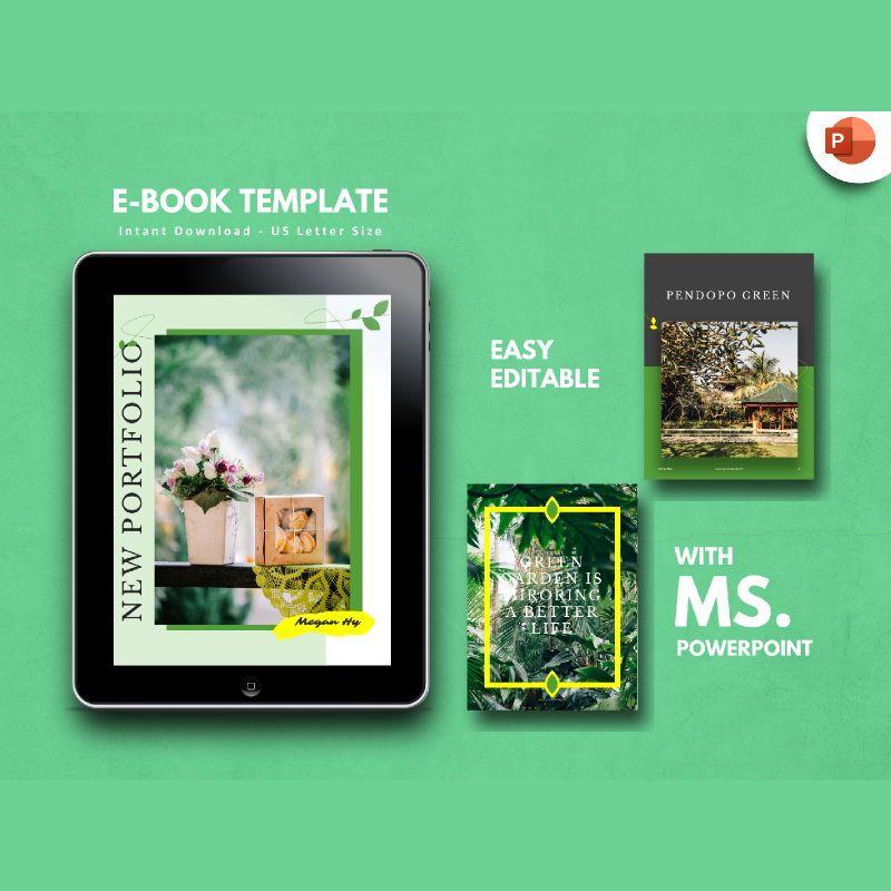 Photography Portfolio eBook PowerPoint Template, 04717, Presentation Templates — PoweredTemplate.com