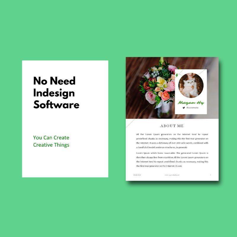 Photography Portfolio eBook PowerPoint Template, Slide 3, 04717, Presentation Templates — PoweredTemplate.com