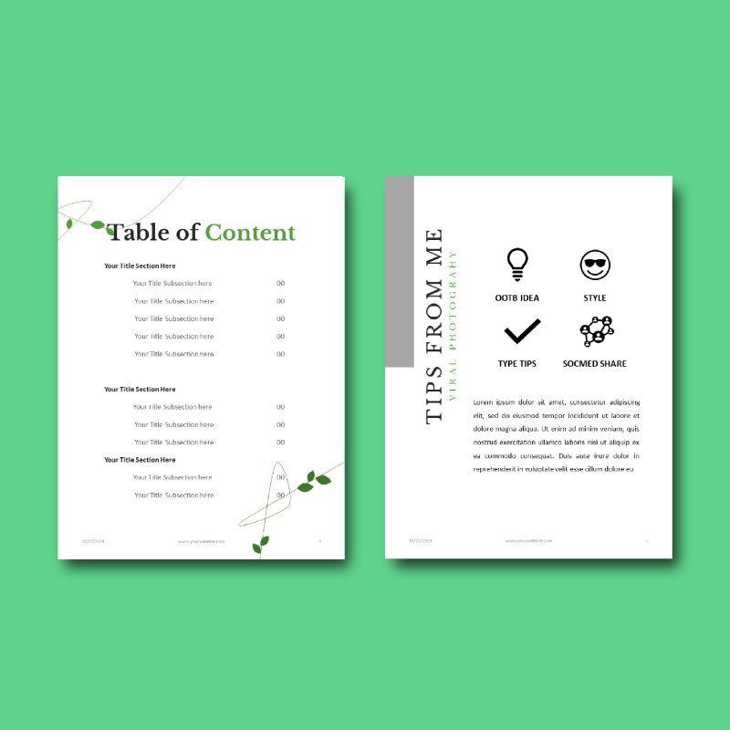 Photography Portfolio eBook PowerPoint Template, Slide 4, 04717, Presentation Templates — PoweredTemplate.com