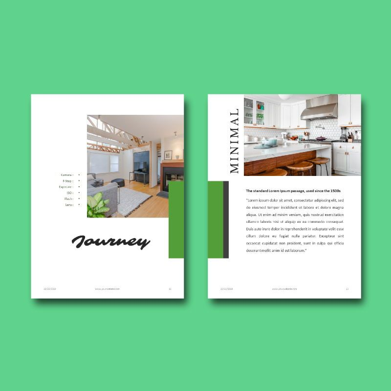 Photography Portfolio eBook PowerPoint Template, Slide 8, 04717, Presentation Templates — PoweredTemplate.com