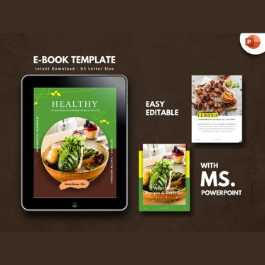 Presentation Templates: Vegetarian Recipe eBook PowerPoint Template #04718