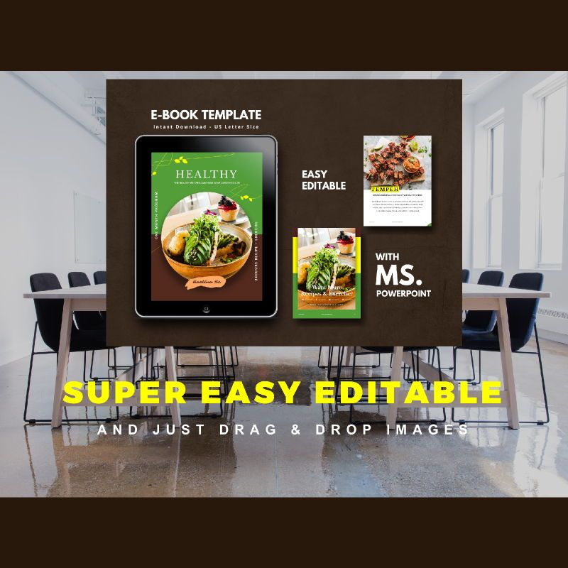Vegetarian Recipe eBook PowerPoint Template, Slide 10, 04718, Presentation Templates — PoweredTemplate.com