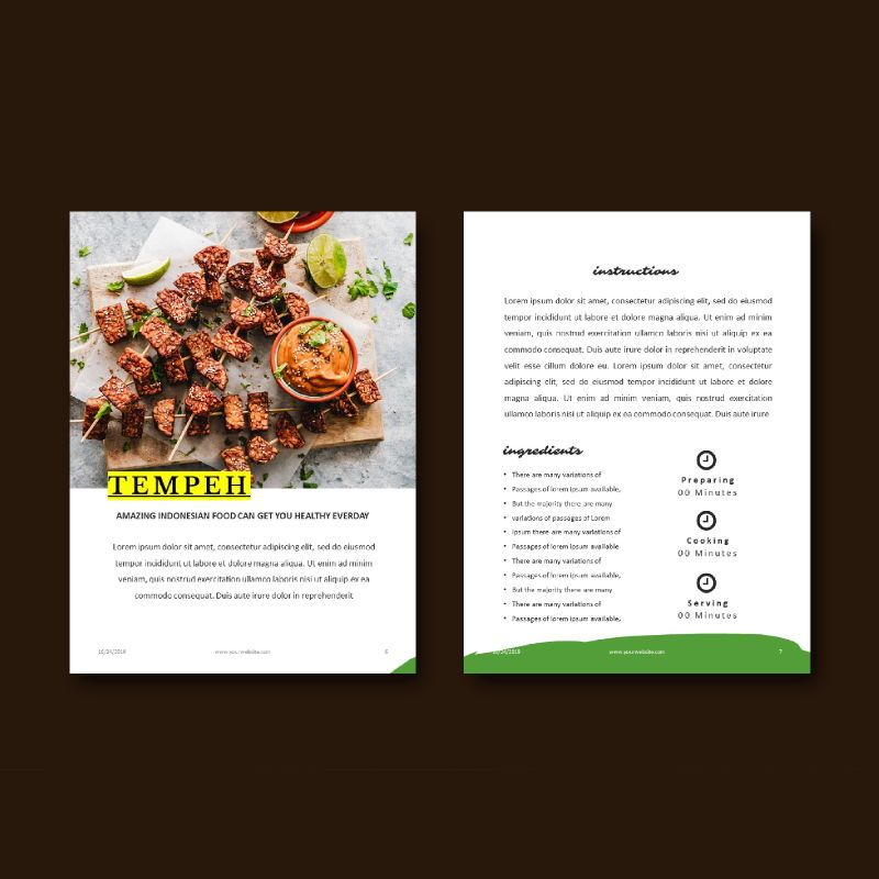 Vegetarian Recipe eBook PowerPoint Template, Slide 6, 04718, Presentation Templates — PoweredTemplate.com