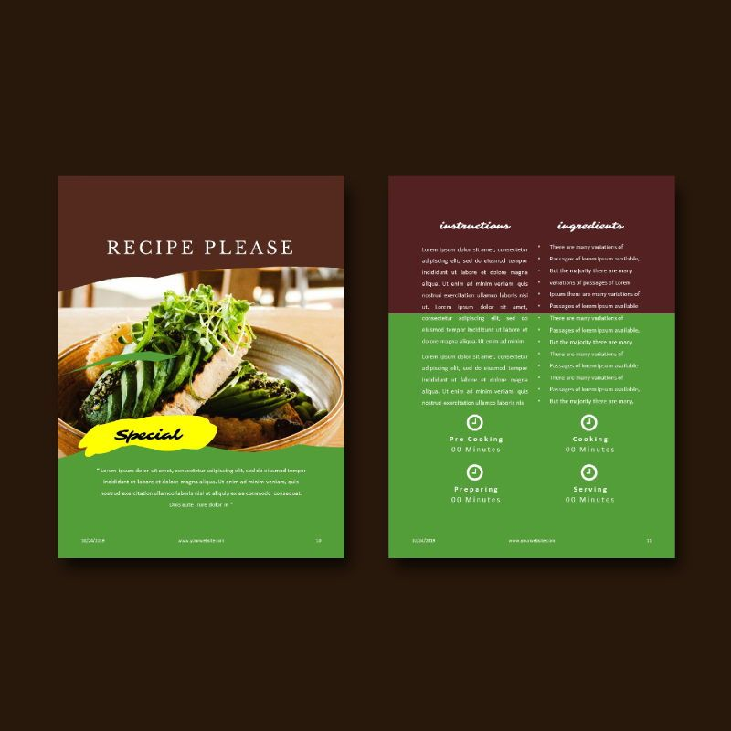 Vegetarian Recipe eBook PowerPoint Template, Slide 8, 04718, Presentation Templates — PoweredTemplate.com
