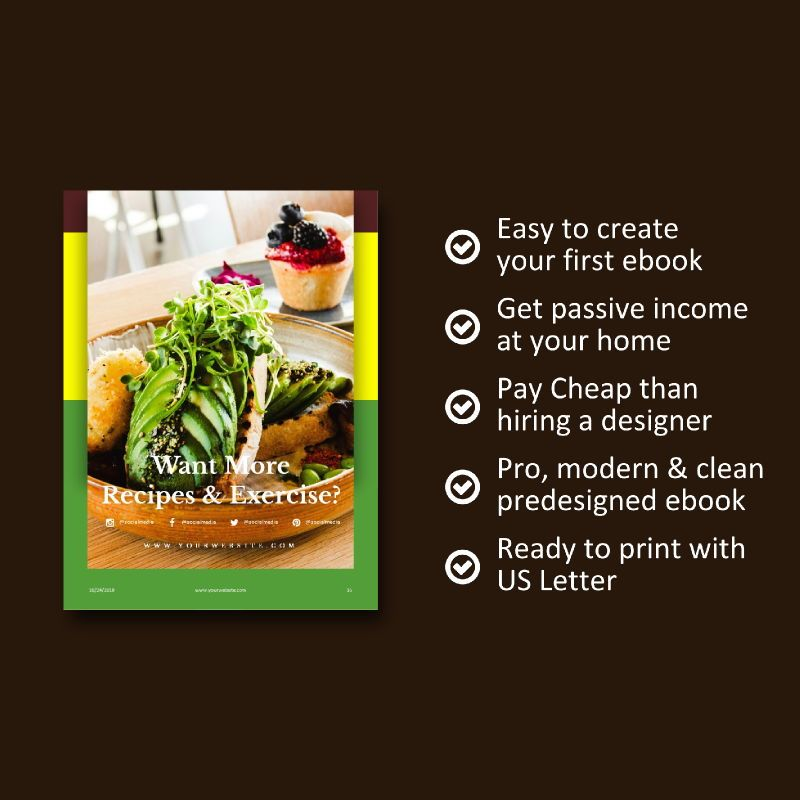 Vegetarian Recipe eBook PowerPoint Template, Slide 9, 04718, Presentation Templates — PoweredTemplate.com