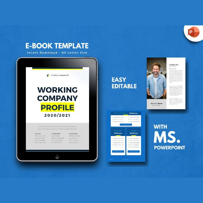 Company Profile 2020 eBook PowerPoint Template zip, 04720, Business Models — PoweredTemplate.com