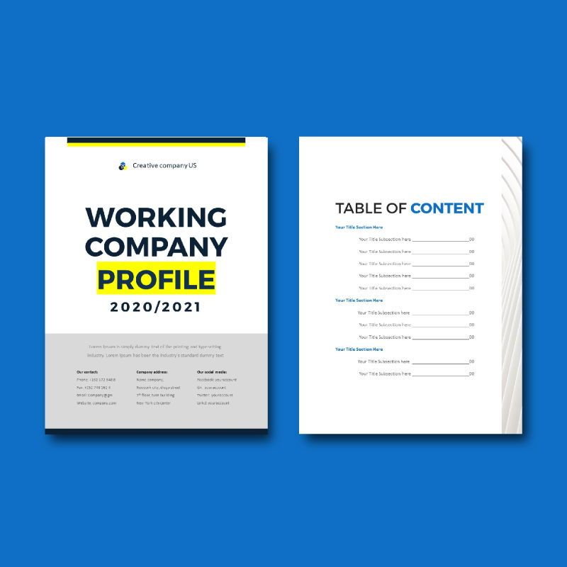 Company Profile 2020 eBook PowerPoint Template zip, Slide 4, 04720, Business Models — PoweredTemplate.com