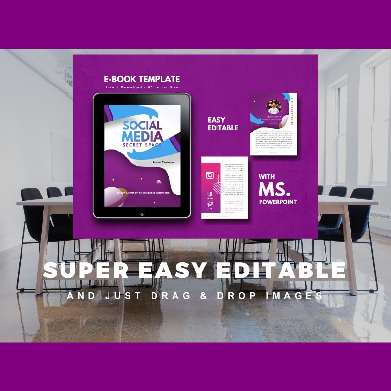 Social Media Secret eBook PowerPoint Template, Slide 10, 04722, Infographics — PoweredTemplate.com