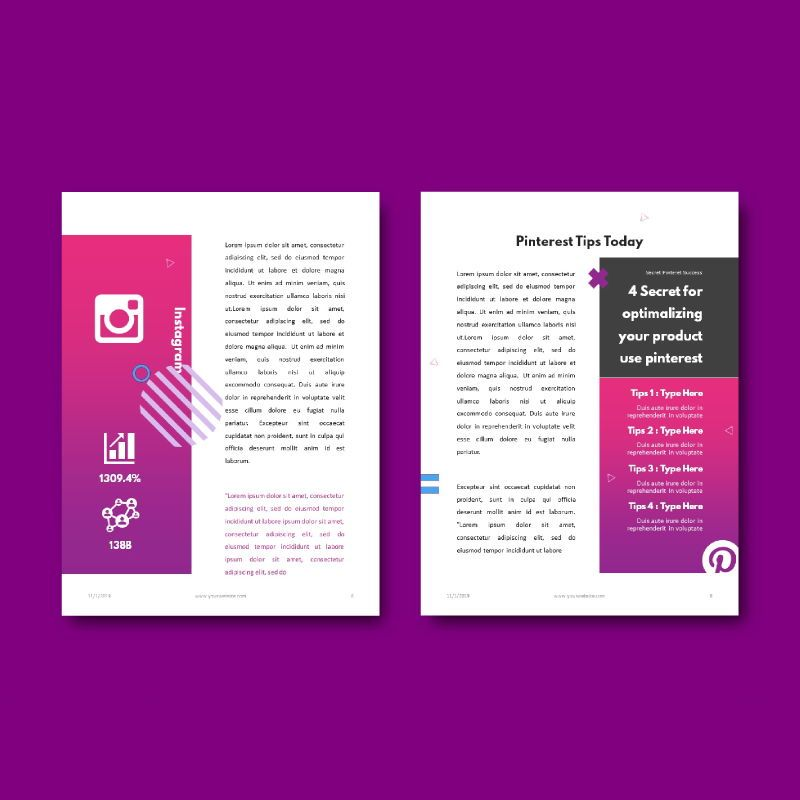 Social Media Secret eBook PowerPoint Template, Slide 7, 04722, Infographics — PoweredTemplate.com
