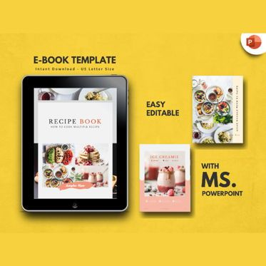 Presentation Templates: Minimal Recipe eBook PowerPoint Template #04723