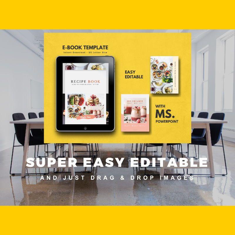 Minimal Recipe eBook PowerPoint Template, Slide 10, 04723, Presentation Templates — PoweredTemplate.com