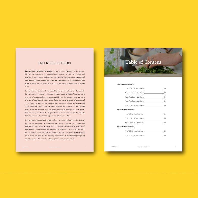 Minimal Recipe eBook PowerPoint Template, Slide 4, 04723, Presentation Templates — PoweredTemplate.com