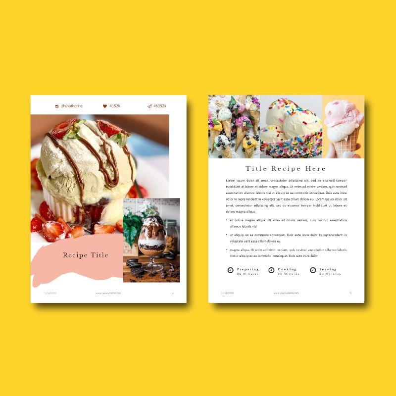 Minimal Recipe eBook PowerPoint Template, Slide 7, 04723, Presentation Templates — PoweredTemplate.com