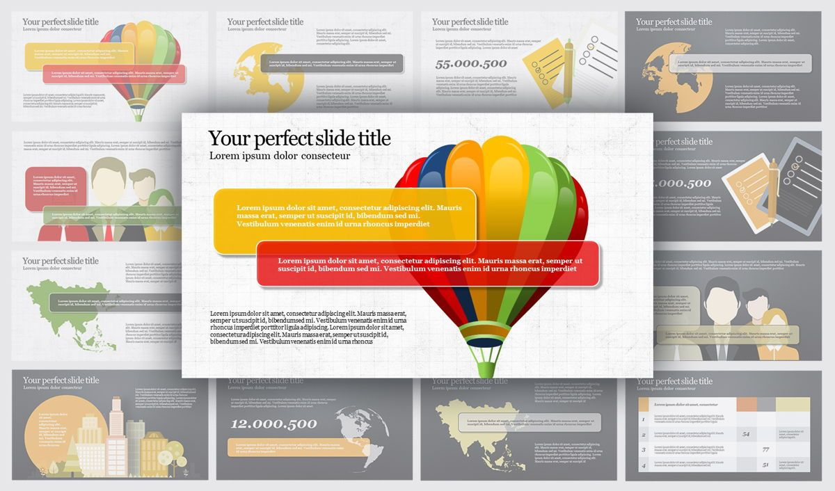 Travel PowerPoint Infographics, 04734, Infographics — PoweredTemplate.com