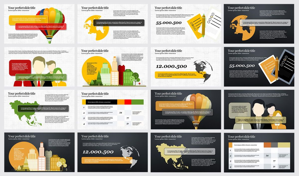 Travel PowerPoint Infographics, Slide 3, 04734, Infographics — PoweredTemplate.com